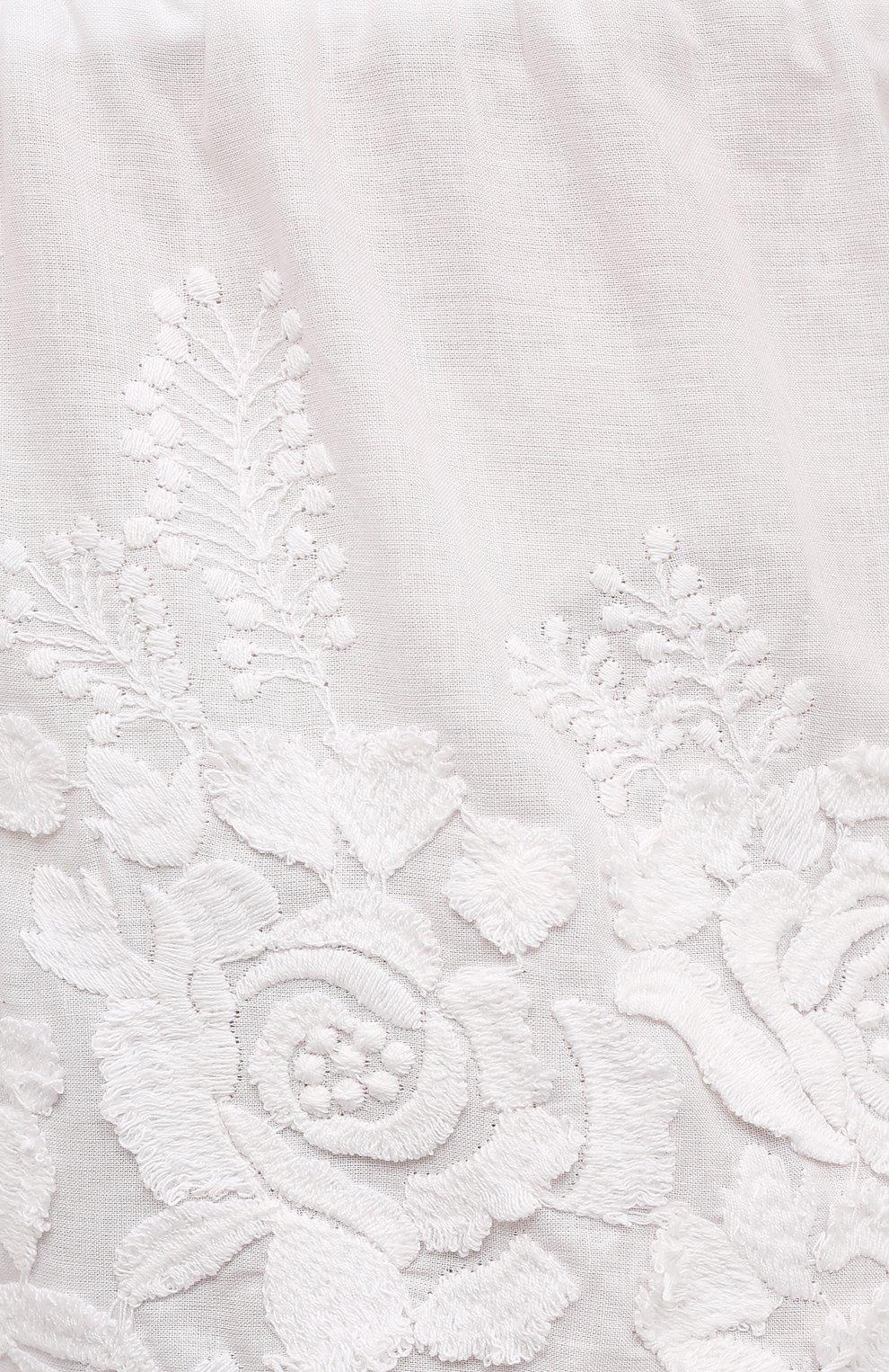 Женские хлопковые шорты EVA B.BITZER светло-бежевого цвета, арт. 10312245 | Фото 5 (Женское Кросс-КТ: Шорты-одежда, Шорты-пляжная одежда; Длина Ж (юбки, платья, шорты): Мини; Материал внешний: Хлопок; Стили: Бохо)