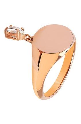 Женское кольцо MOONKA золотого цвета, арт. nc-sig-tpz-g   Фото 1 (Материал: Серебро)