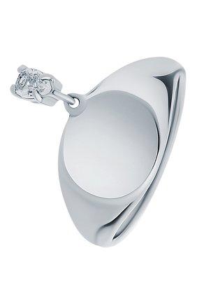 Женское кольцо-печатка с белым топазом MOONKA серебряного цвета, арт. nc-sig-tpz-r   Фото 1 (Материал: Серебро)