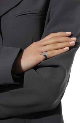 Женское кольцо-печатка с белым топазом MOONKA серебряного цвета, арт. nc-sig-tpz-r   Фото 2 (Материал: Серебро)