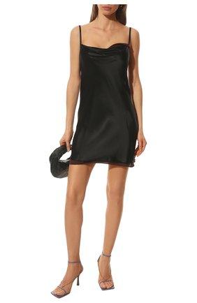 Женские кожаные босоножки the stretch BOTTEGA VENETA сиреневого цвета, арт. 651385/VBSF0 | Фото 2
