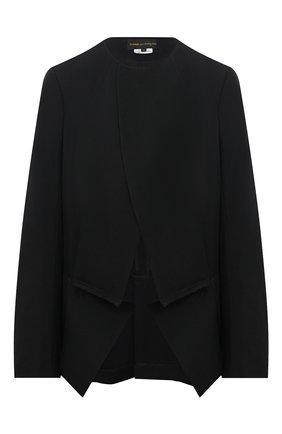 Женский шерстяной жакет COMME DES GARCONS черного цвета, арт. GF-J018-051 | Фото 1