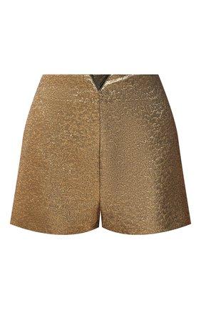 Женские шорты VALENTINO золотого цвета, арт. VB3RF1N0663   Фото 1