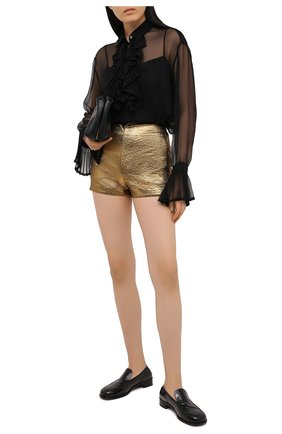 Женские шорты VALENTINO золотого цвета, арт. VB3RF1N0663   Фото 2