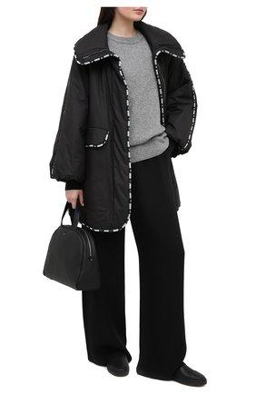 Женские кожаные ботинки GIORGIO ARMANI черного цвета, арт. X1Z009/XM925 | Фото 2 (Женское Кросс-КТ: Челси-ботинки; Подошва: Платформа; Материал утеплителя: Натуральный мех)