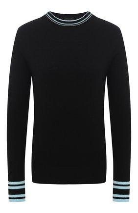 Женский кашемировый пуловер GIORGIO ARMANI черного цвета, арт. 3KAM20/AM85Z | Фото 1