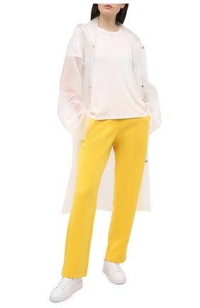 Женские кожаные кеды superstar GOLDEN GOOSE DELUXE BRAND белого цвета, арт. GWF00197.F000538 | Фото 2
