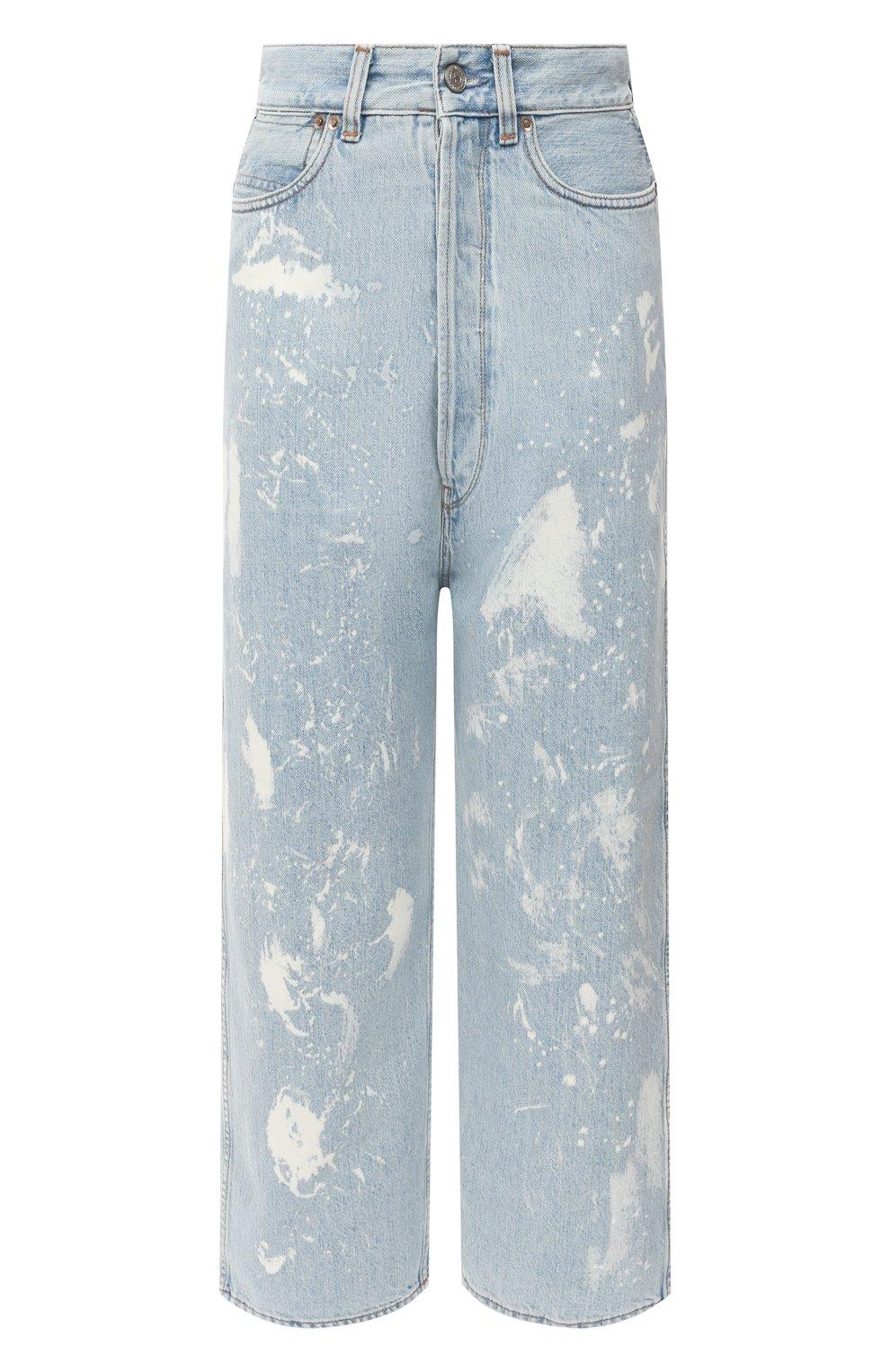 Женские джинсы GOLDEN GOOSE DELUXE BRAND голубого цвета, арт. GWP00107.P000416   Фото 1