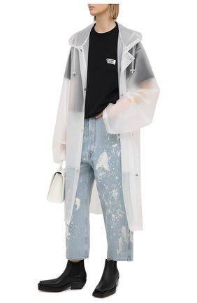 Женские джинсы GOLDEN GOOSE DELUXE BRAND голубого цвета, арт. GWP00107.P000416 | Фото 2