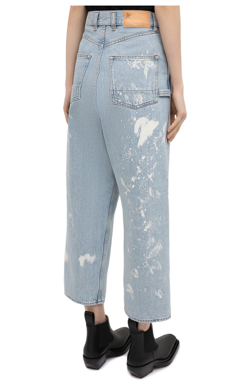 Женские джинсы GOLDEN GOOSE DELUXE BRAND голубого цвета, арт. GWP00107.P000416   Фото 4