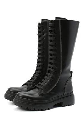 Женские кожаные ботинки BRUNELLO CUCINELLI черного цвета, арт. MZBSC1893 | Фото 1
