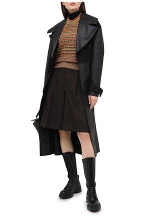 Женские кожаные ботинки BRUNELLO CUCINELLI черного цвета, арт. MZBSC1893 | Фото 2