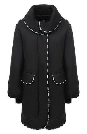Женское пальто GIORGIO ARMANI черного цвета, арт. 1SH0C054/T02DE | Фото 1
