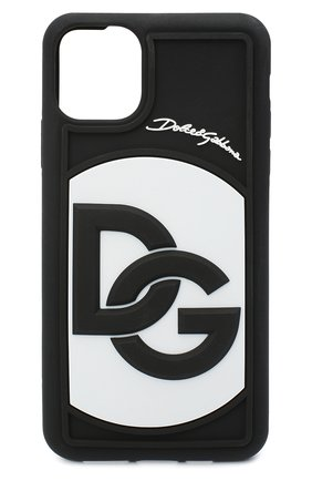 Мужской чехол для iphone 11 pro max DOLCE & GABBANA черно-белого цвета, арт. BP2688/AW655   Фото 1