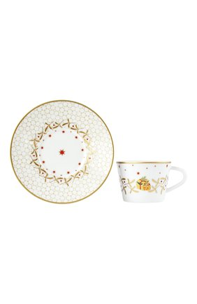 Чашка кофейная с блюдцем Noel Blanc | Фото №1