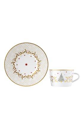 Чашка чайная с блюдцем Noel Blanc | Фото №1