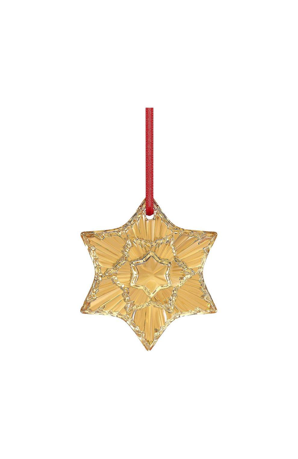"Елочная игрушка ""звезда"" BACCARAT золотого цвета, арт. 2 813 875 | Фото 1"