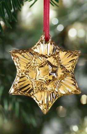 "Елочная игрушка ""звезда"" BACCARAT золотого цвета, арт. 2 813 875 | Фото 2"