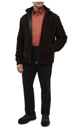 Мужская сорочка из кашемира и шелка ZILLI красного цвета, арт. MFU-00503-87060/0001/45-49   Фото 2 (Big sizes: Big Sizes; Стили: Классический; Случай: Формальный; Материал внешний: Шерсть, Шелк; Рубашки М: Classic Fit; Длина (для топов): Стандартные; Рукава: Длинные; Воротник: Кент)