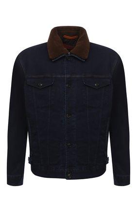 Мужская комплект из куртки и жилета CORTIGIANI синего цвета, арт. 918501/0000/6720/60-70 | Фото 1