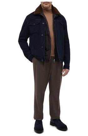 Мужская комплект из куртки и жилета CORTIGIANI синего цвета, арт. 918501/0000/6720/60-70 | Фото 2