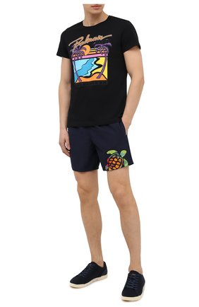 Мужские плавки-шорты VILEBREQUIN темно-синего цвета, арт. MOTH0C03/390 | Фото 2