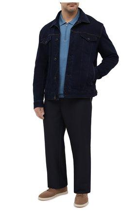Мужские брюки ZILLI SPORT темно-синего цвета, арт. MBU-ZS812-PASE0/0001/66-68 | Фото 2