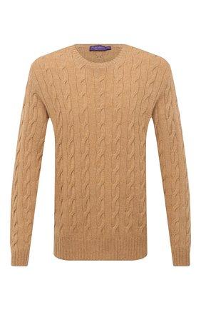 Мужской кашемировый свитер RALPH LAUREN бежевого цвета, арт. 790509405 | Фото 1