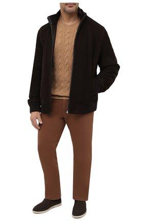 Мужской кашемировый свитер RALPH LAUREN бежевого цвета, арт. 790509405 | Фото 2
