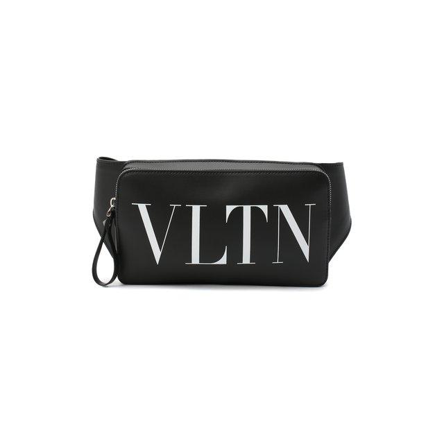 Кожаная поясная сумка VLTN Valentino