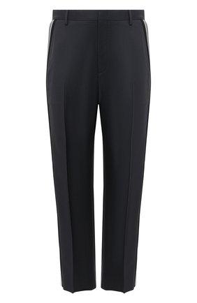 Мужские шерстяные брюки VALENTINO серого цвета, арт. VV3RBG0171K | Фото 1 (Случай: Повседневный; Материал внешний: Шерсть; Стили: Кэжуэл; Длина (брюки, джинсы): Стандартные)