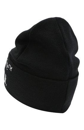 Мужская шерстяная шапка OFF-WHITE черного цвета, арт. 0MLC012R21KNI001 | Фото 2