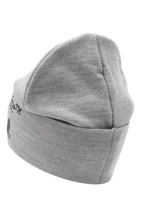 Мужская шерстяная шапка OFF-WHITE серого цвета, арт. 0MLC012R21KNI001 | Фото 2