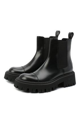 Женские кожаные ботинки tractor BALENCIAGA черного цвета, арт. 641399/WA8E9 | Фото 1