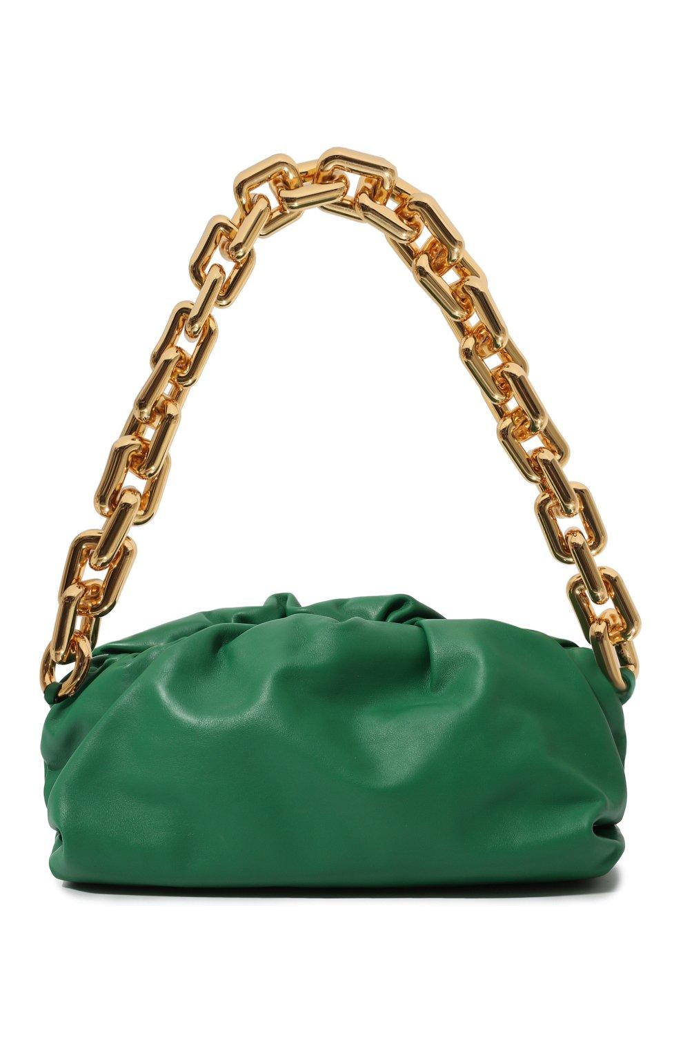 Женская сумка chain pouch BOTTEGA VENETA зеленого цвета, арт. 620230/VCP40   Фото 1