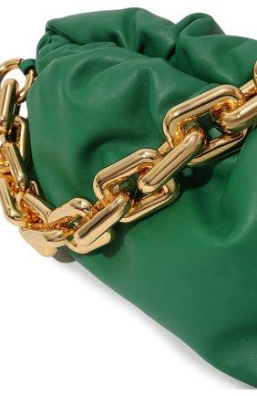 Женская сумка chain pouch BOTTEGA VENETA зеленого цвета, арт. 620230/VCP40   Фото 3