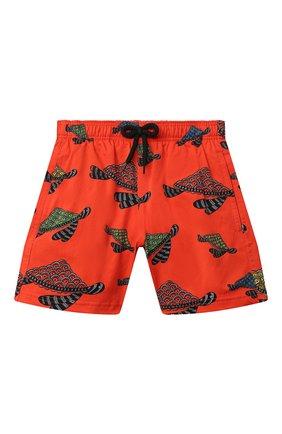 Детские плавки-шорты VILEBREQUIN красного цвета, арт. JIIH0F12/193 | Фото 1