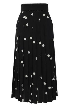 Женская шелковая юбка DOLCE & GABBANA черно-белого цвета, арт. J4036T/HS15T | Фото 1