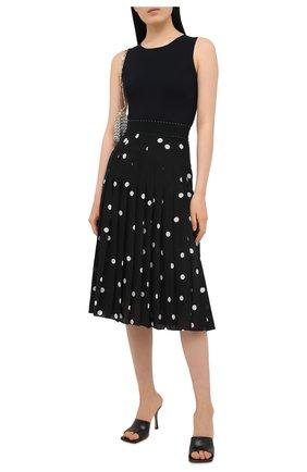 Женская шелковая юбка DOLCE & GABBANA черно-белого цвета, арт. J4036T/HS15T | Фото 2