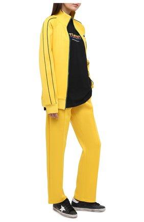 Женские кожаные кеды superstar GOLDEN GOOSE DELUXE BRAND черного цвета, арт. GWF00101.F000321 | Фото 2
