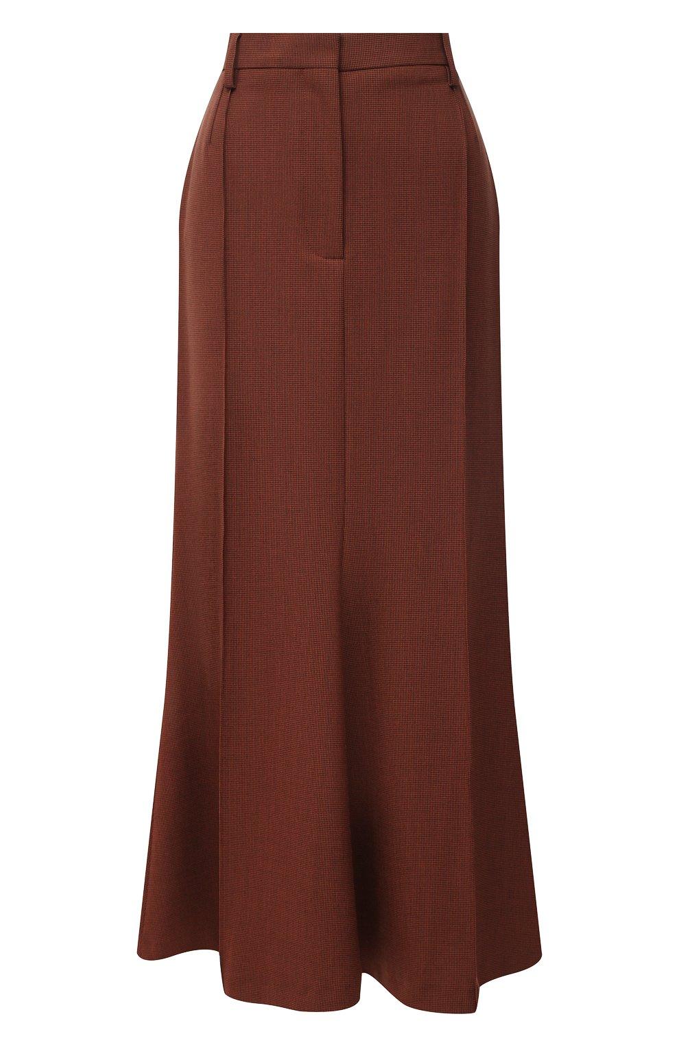 Женская юбка NANUSHKA коричневого цвета, арт. MACIE_RUST_H0UNDST00TH SUITING | Фото 1