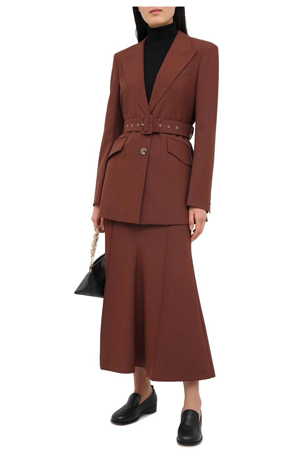 Женская юбка NANUSHKA коричневого цвета, арт. MACIE_RUST_H0UNDST00TH SUITING | Фото 2