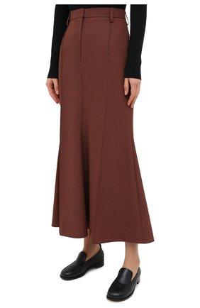 Женская юбка NANUSHKA коричневого цвета, арт. MACIE_RUST_H0UNDST00TH SUITING | Фото 3