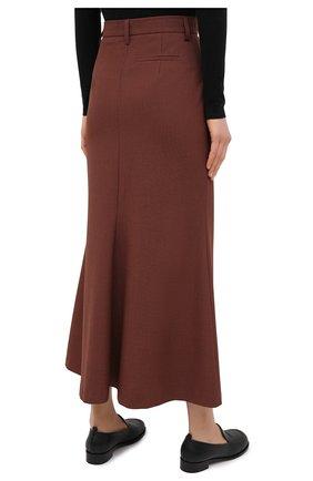 Женская юбка NANUSHKA коричневого цвета, арт. MACIE_RUST_H0UNDST00TH SUITING | Фото 4