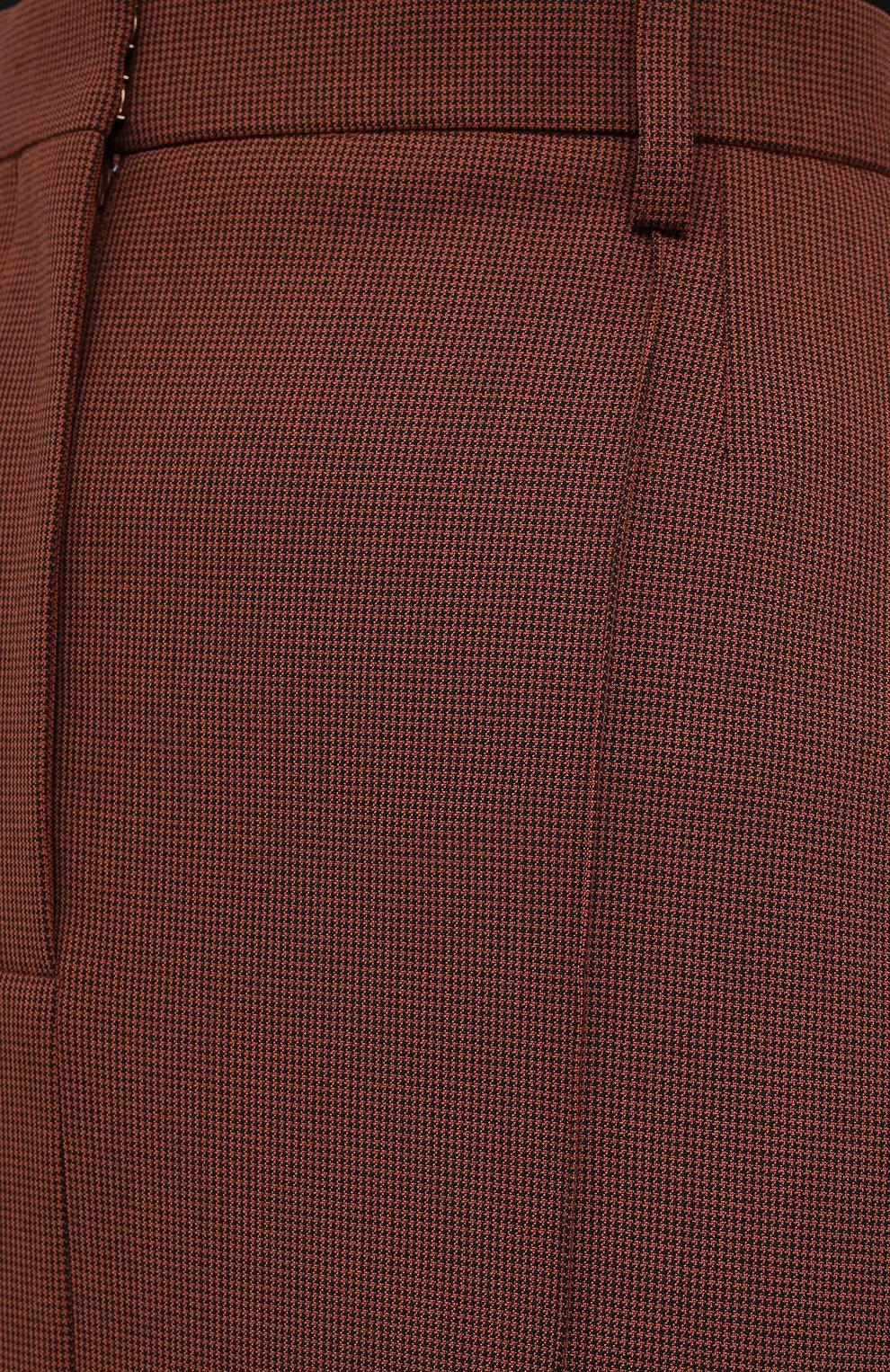 Женская юбка NANUSHKA коричневого цвета, арт. MACIE_RUST_H0UNDST00TH SUITING | Фото 5