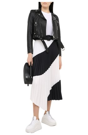 Женская кожаная куртка OFF-WHITE черного цвета, арт. 0WJG002R21LEA001 | Фото 2