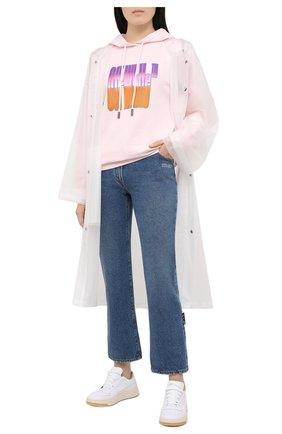 Женский хлопковое худи OFF-WHITE розового цвета, арт. 0WBB035R21JER006 | Фото 2