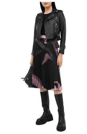 Женская плиссированная юбка OFF-WHITE розового цвета, арт. 0WCC056R21FAB001 | Фото 2