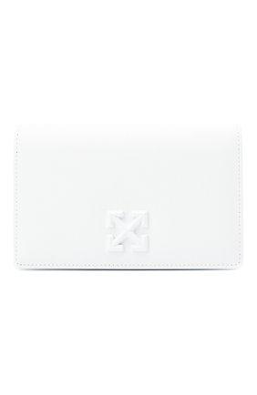 Женская сумка 0.5 jitney OFF-WHITE белого цвета, арт. 0WNA104R21LEA001 | Фото 1