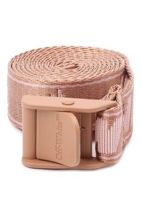 Женский текстильный ремень OFF-WHITE розового цвета, арт. 0WRB042R21FAB001 | Фото 1